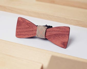 Wooden Gift For Men, Wedding Bow Tie, Romantic Gift, Gentleman Gift, Unique Bowtie, Brown Bow Tie, Boho Style, Wood Wedding, Gift For Women