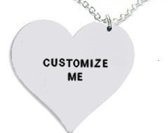 necklace- customized necklace- personalized necklace- heart necklace- custom heart- valentines gift- valentines- heart pendant