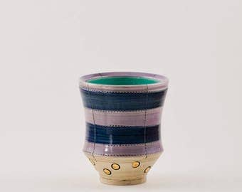 Cup, whiskey cup, sipper cup, wine cup, yunomi, tea cup, handmade pottery, ceramic cup, striped cup, juice cup, little cup, small cup