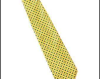 Men's Vintage Yellow Necktie - Men's Silk Necktie - Silk Tie - Gap Premium Tie