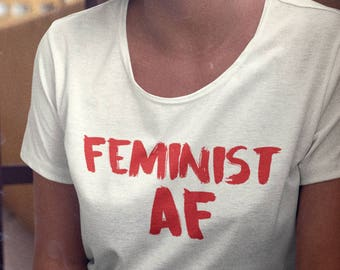 Feminism Shirt, Feminist Shirt, Feminist AF Lipstick Print T Shirt *TOOWASTED ORIGINAL* Future is Female shirt tumblr fashion