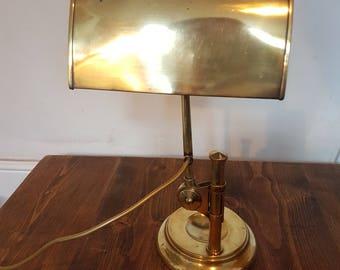 1950s English made brass piano lamp: rewired