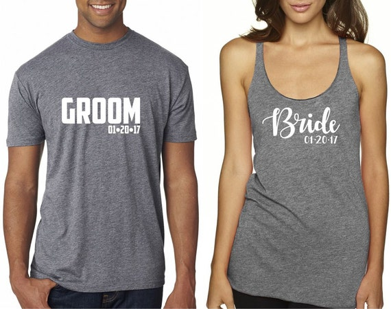 Items Similar To Bride And Groom Shirts Engagement