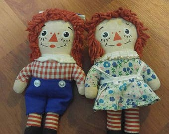 Small Raggedy Ann And Andy dolls