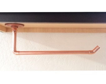 Industrial Copper Pipe Paper Towel Holder For Under Cabinet