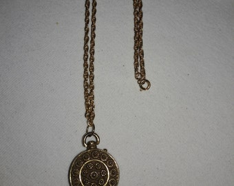 Goldette Locket Vintage Gold Plated Necklace