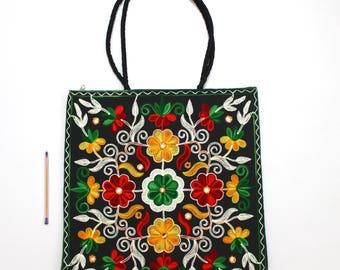 Handmade Ethnic Designer Tribal Banjara Patchwork Embroidered Hippy Fashionable Stylish Trendy Hippie Gypsy Boho Bohemian Shoulder Bag F345