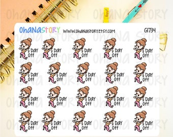 Janine DAY OFF Planner Stickers (G1734)
