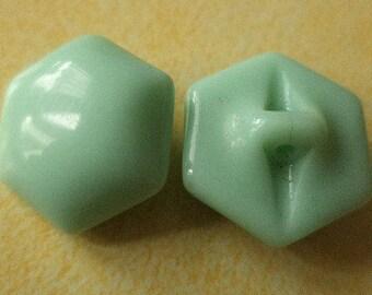 Glass buttons 8 glass buttons green Mint green 16 mm (6020)