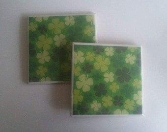 Green Shamrock Coasters