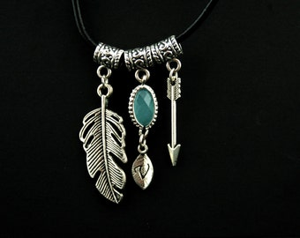 Boho jewelry Boho necklace Tribal necklace Summer necklace Best friend necklace Best friend gift Personalized girlfriend Friend birthday