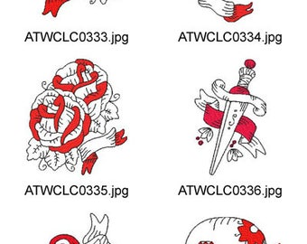 American-Tattoo ( 10 Machine Embroidery Designs from ATW ) XYZ17D