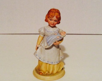 A Mother's Love figurine, vintage Avon figurine collectible, young mother and baby figurine, 1981 Avon figurine.
