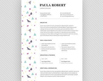 "Resume Template / CV Template + Cover Letter for MS Word and Photoshop | Instant Digital Download - ""Arcturus"""