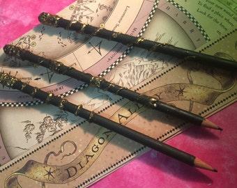 Handmade HARRY POTTER WAND Pencils Set
