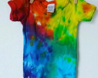 Color Burst Tie Dye Baby Onesie