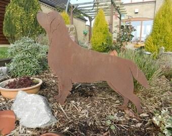 Rusty Labrador / Rusty Metal Garden Art / Labrador gift / Dog Memorial / dog garden art / Dog Lover Gift / Labrador Retriever Pet Gift