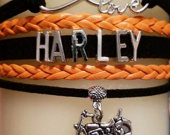 Harley Charm Bracelet - HARLEY - Harley Bracelet -  Harley Bracelet - PRICE REDUCED!