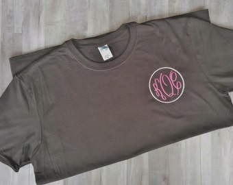 Georgia Home Short Sleeve T-Shirt with Embroidered Monogram