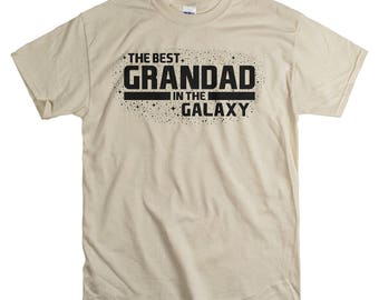 Christmas Gifts for Grandad - T Shirt for Grandpa - Gift for Grandparents - The Best Grandad In The Galaxy Tshirt
