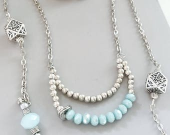 Beautiful multi strand necklace wear all at once or individually