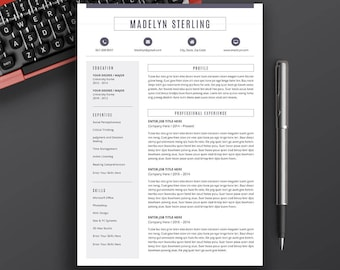 professional resume template free cover letter cv template word resume modern resume. Resume Example. Resume CV Cover Letter