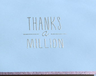 Thanks-a-Million Cards - Set of 5