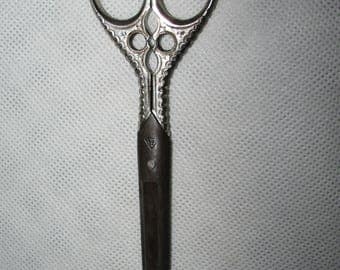 Antique SCISSORS   German Solingen Scissors circa 1900 Gothic decor