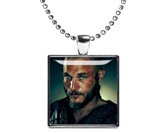 Ragnar Lothbrok Necklace Vikings Fandom Jewelry Necklace Pendant Viking Warrior Fangirl Fanboy