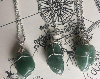 Green Aventurine Pendant Necklace
