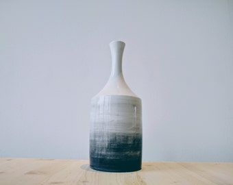 Shades of Black. Elegant Design vase. Totally handmade in Italy
