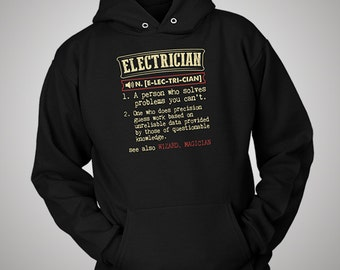 Electrician Funny Dictionary Definition Hoodie