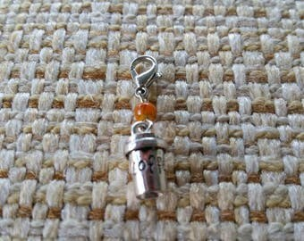 Coffee To Go Cup- Progress Keeper Stitch Marker for Crocheting and Knitting or Bag Charm Zipper Pull  SPK528