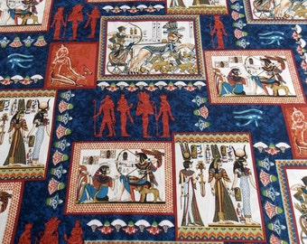 Egyptian Fabric Pharaoh Fabric Egypt Cotton Fabric Sphinx Fabric Pillow Fabric Curtain Fabric Table Runner Fabric Placemat Fabric
