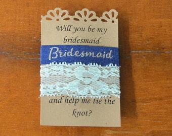 Hair Tie Bridesmaid Gift/Wedding Favor/Metallic Blue/Navy/Mint/Silver