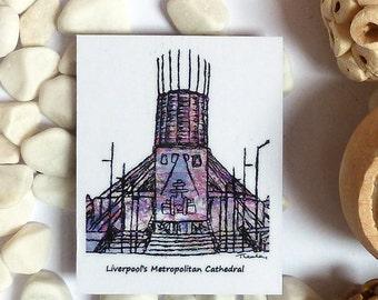 Liverpool Metropolitan Cathedral Magnet - Liverpool landmark magnet - Liverpool fridge magnet