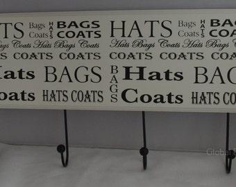 Coat Hooks Wall Mounted Decorative Coat Hooks Coat Rack Extra Large Black & White F1181