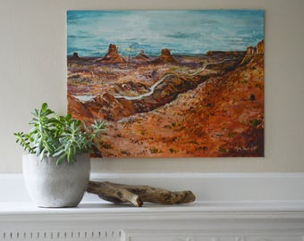 Arizona Monument Valley Sunset: Original Acrylic Painting