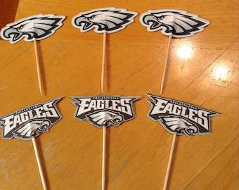 Philadelphia Eagles Cupcake Toppers
