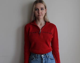 Vintage Tommy Hilfiger Quarter Zip Sweater