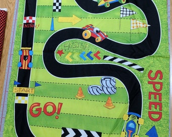 Race Day-Panel Cotton Fabric from Wilmington Prints