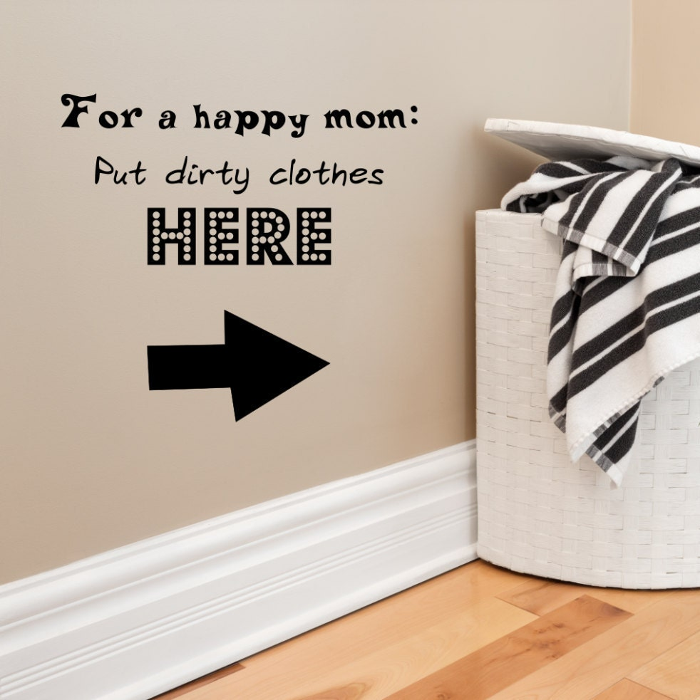 For a happy mom dirty clothes here laundry decal laundry wall for a happy mom dirty clothes here laundry decal laundry wall art laundry room dirty clothes decal happy mom decals laundry decor amipublicfo Images