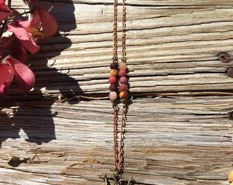 Save The Bees Wire Wrap Semi Precios stone necklaces