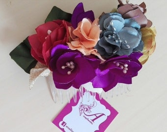Played flowers, flowers, comb flower, played together and belt, touched weddings, flowers fascinator, fascinator, fascinator wendding and belt