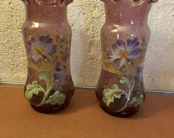 Pair of vases glazed LEGRAS MONTJOYE 1910