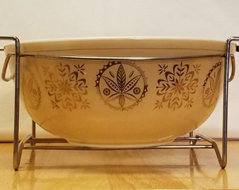 Vintage Pyrex Promotional Hex Signs Mixing Bowl 4 quart #404