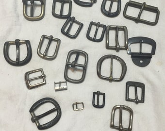 Lot of 23 Assorted Silver Buckles (#103)