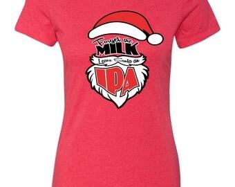 Womens Christmas Shirt Christmas Tshirt Santa Craft Beer Tshirt Santa IPA Shirt Holiday Gift Idea Christmas Present Craft Beer for Christmas