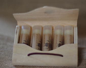 Organic Lip Balm Set || Pick Any 5 || Organic Lip Balm || Lip Balm || Anniversary || Birthday