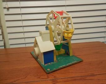 Vintage Fisher Price Ferris Wheel Toy - 1964